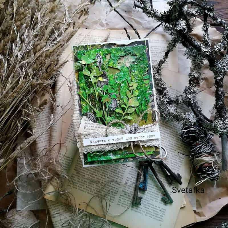 мк Ботаническая открытка-конверт «Ароматы луга» превью