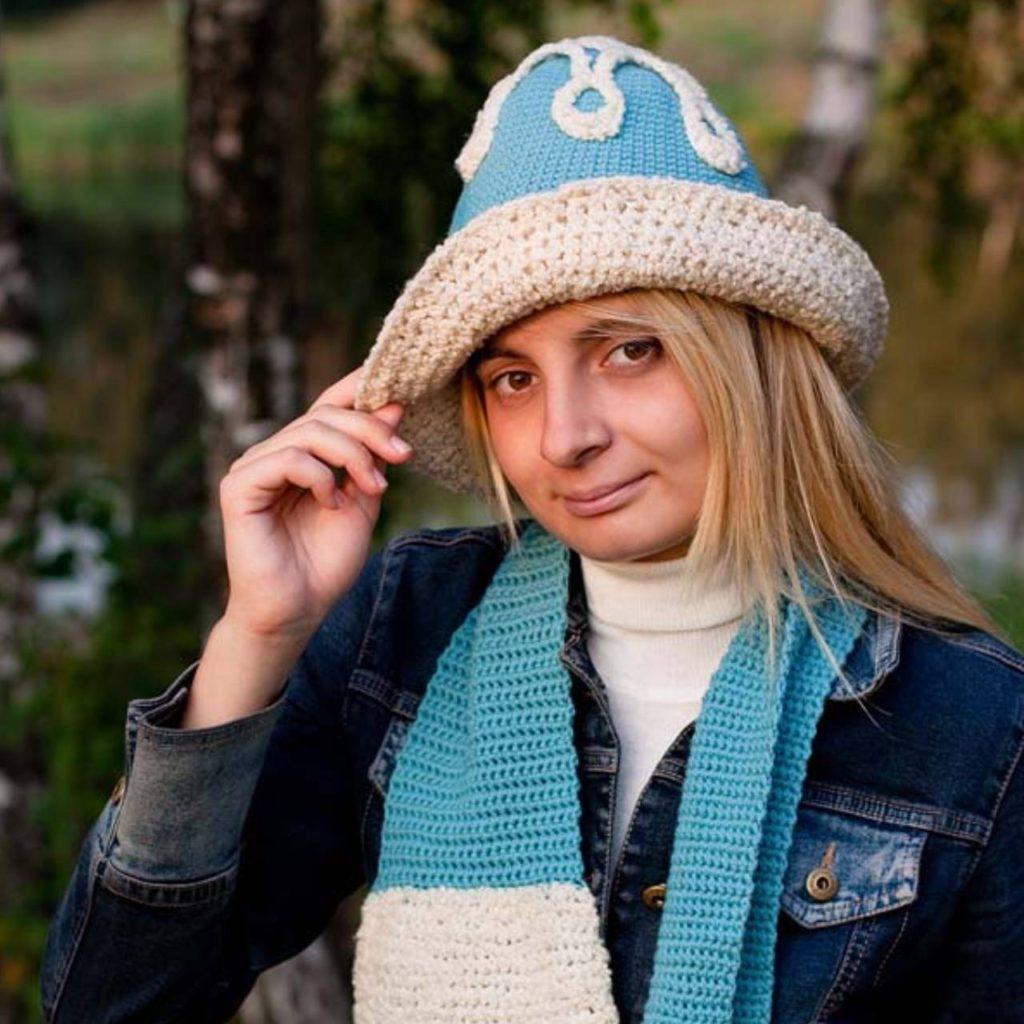 мк Круговое полотно. Шляпа, берет, шапочка. Вязание крючком. фото